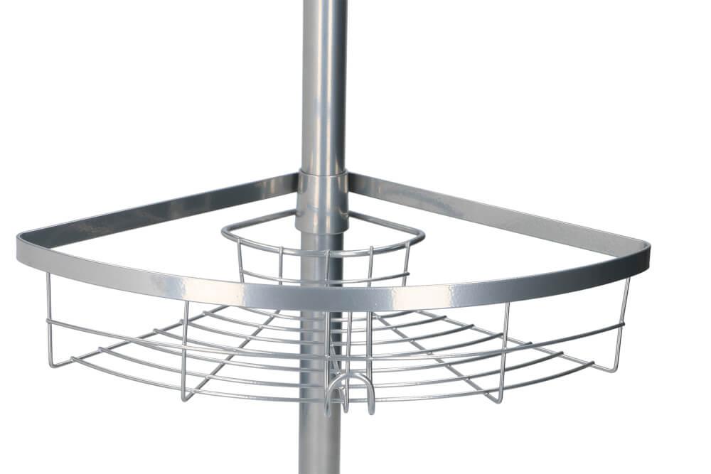 Badkamer Hoekrek Rvs Met 3 Manden Met Telescoopstang Tot 250cm Groothandel Helms B V